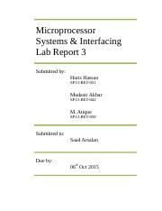 Microp. Lab report 3