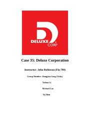 deluxe corporation case study analysis