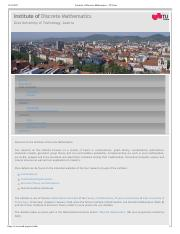 Institute of Discrete Mathematics - TU Graz.pdf