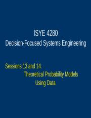 sessions 13 and 14 - theoretical probability models using data