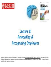 Ch 7 - Rewarding and Recognizing Employees