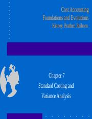 Ch07 Standard Costing and Variance Analysis