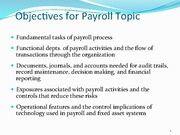 The Expenditure Cycle Payroll Processing