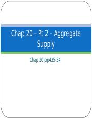Chap 20 Pt 2 – Aggregate Supply
