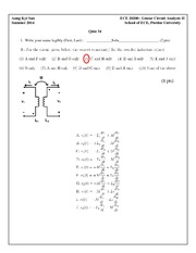 Quiz 34 Solution on Linear Circuit Analysis II
