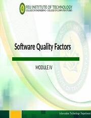 Module 4 - Software Quality Factors.pptm