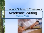 academic writing- overview