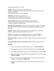World War International Relations Study Guide Outline 21