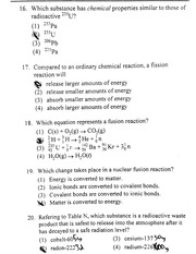 Nuclear Chemistry Problems