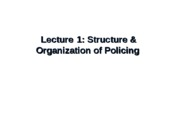 Chapter 1 - Structure & Organization of Police Upload