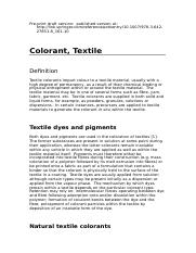 Colorant, Textile - revised [Research Gate version]