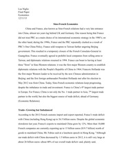 China and France Final Paper First Draft