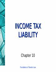 10 (Income Tax Liability)