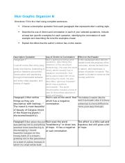 Muir Graphic Organizer B (6.03B) English