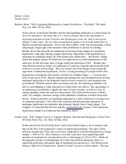 legalize marijuana annotated bibliography Colorado school safety resource center marijuana materials  colorado adults  and visitors about the safe, legal and responsible use of retail marijuana   preventing youth marijuana use: an annotated bibliography, june 2014,  providing.