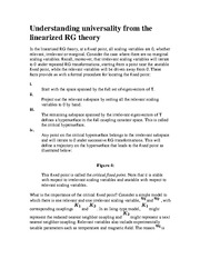 BUSSTAT 207 Understanding universality from the linearized RG theory