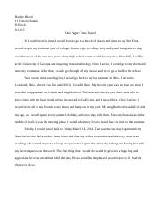 One pager - time travel - finished 9/17