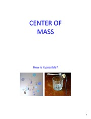 Lecture13 Ch8 CenterMass