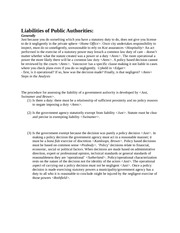 law 408 lecture notes on Liabilities of Public Authorities
