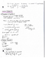 Lecture 7 Notes 1