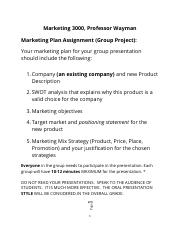 MKT 3000 Group Presentation-fall 2017.docx