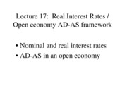 Real Interest Rates review
