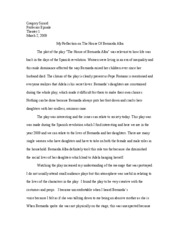theater one essay one