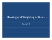 Ranking and Weighting of Goals