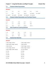 8 - Answer Key Chapter 8 Measurement Area and Volume 8 1