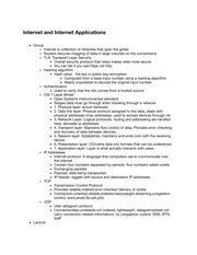 TC 201 Internet and Internet Applications Notes