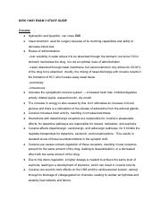 BIOS 10451 EXAM 3 Study Guide