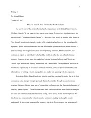 rhetorical essay 3