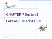 CH-7-Section1 Laplace Transform