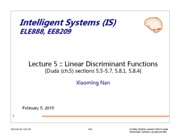 Lecture 4 and 5