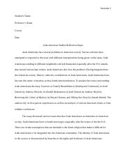Arab American Studies Reflection Paper.docx