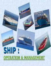 Lecture 3 - Ship Operations