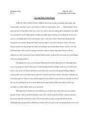 How To Write A Thesis Paragraph For An Essay  Pages A Long Way Gone Essay Mrs Vick Docx Science Essay Topics also English Learning Essay Document   Iria Banigo English  Ms Johnson A Long Way Gone  General Essay Topics In English