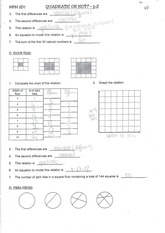 MPM2D Quadratic Equations Notes and Practise