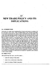 L-37 NEW TRDE POLICY AND ITS IMPLICATIONS