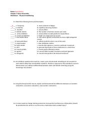 Chapter 3 Injury Prevention Worksheet