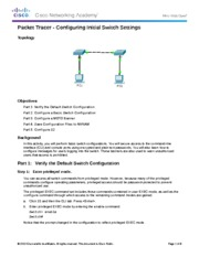 2.2.3.3 Packet Tracer - Configuring Initial Switch Settings  Instructions FINISHED