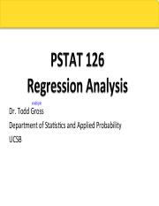 PStat 126 F15 Lecture 7
