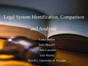 Legal System Identification, Comparison and Analysis