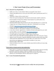 Career Essay and Presentation Guide 2015