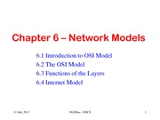 Chapter 6 – Network Models
