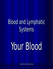 Blood and Lymphatic system power point