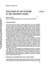 Evolution of arc systems in the Western Pacific