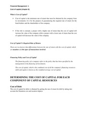 Cost of capital -8