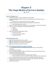 chapter 2 the gaps model of service quality.docx