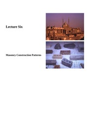 Lecture 6-Masonry Construction